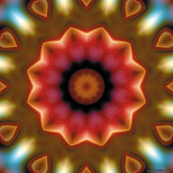 Relaxing Pattern Poster featuring the digital art Mandala 103 by Terry Reynoldson