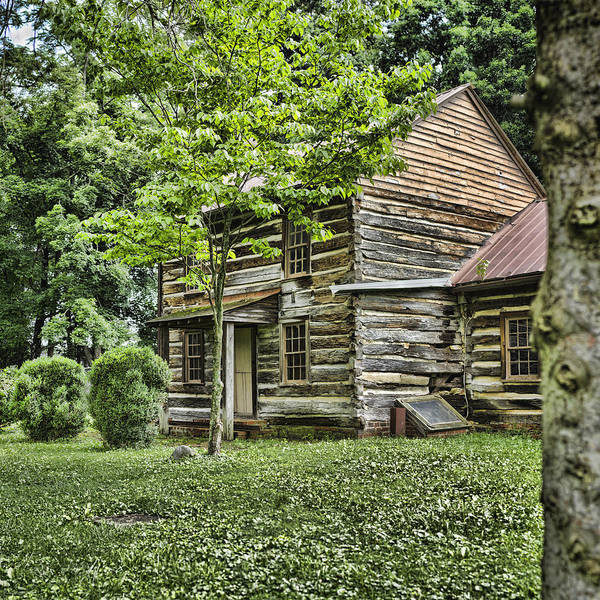 Log Cabin Poster featuring the photograph Mary Dells House by Heather Applegate