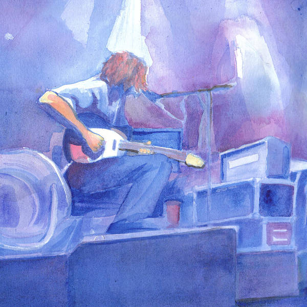 Michael Houser Poster featuring the painting Michael Houser From Widespread Panic by David Sockrider