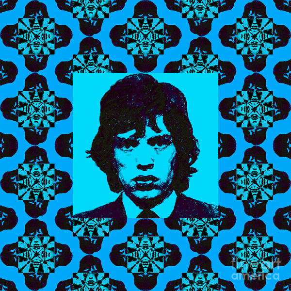 Mick Jaggar Poster featuring the photograph Mick Jagger Abstract Window P168 by Wingsdomain Art and Photography