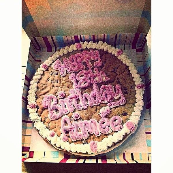 Millies Cookie Birthday Cake Poster By Aimee Tyreman