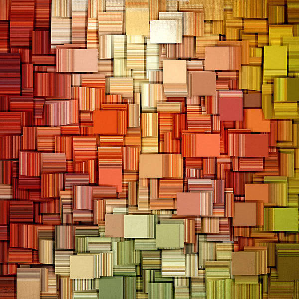 Abstract Poster featuring the digital art Modern Abstract Viii by Lourry Legarde