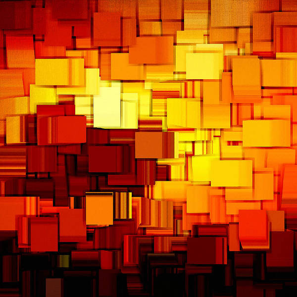 Abstract Poster featuring the digital art Modern Abstract Xi by Lourry Legarde