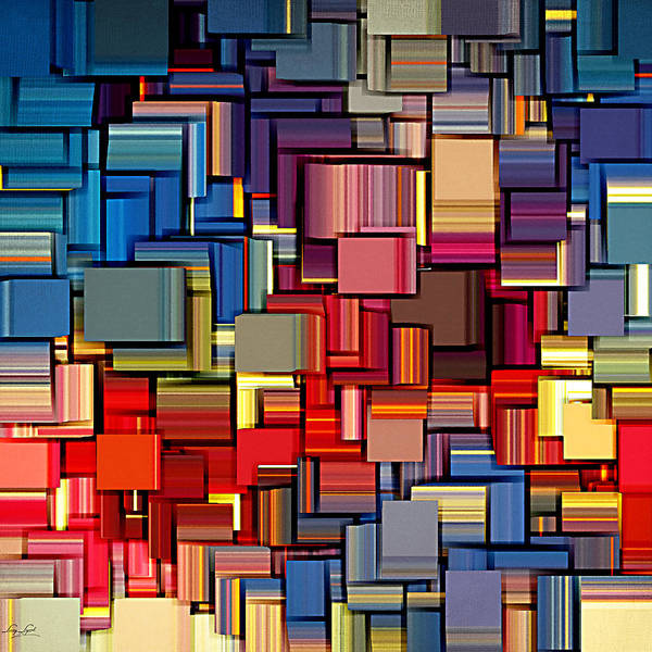 Squares Poster featuring the digital art Modern Abstract Xii by Lourry Legarde