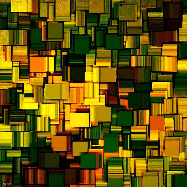 Abstract Poster featuring the digital art Modern Abstract Xxii by Lourry Legarde
