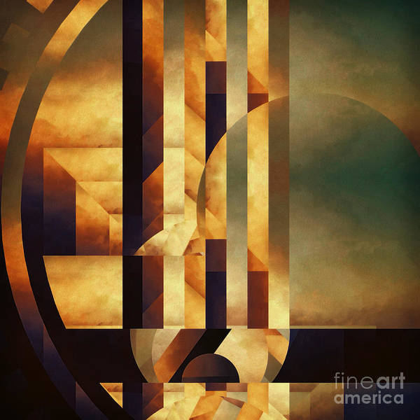 Abstract Poster featuring the painting Modular Movement by Lonnie Christopher