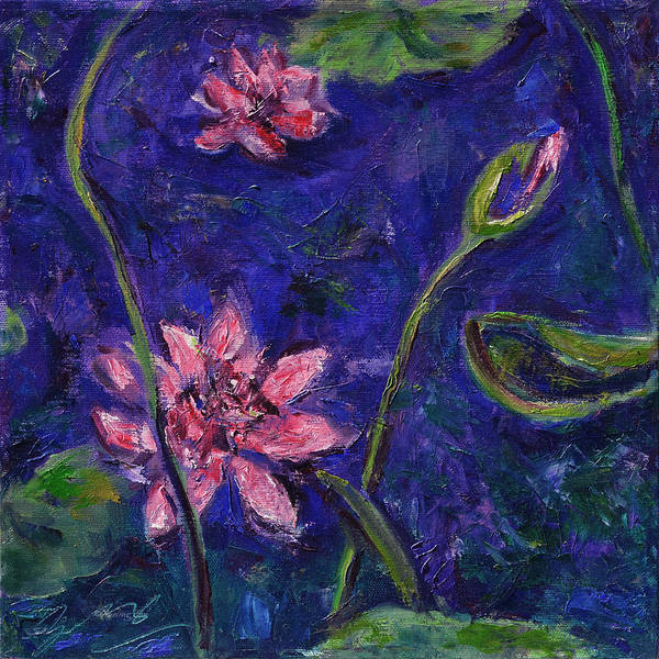 Water Lilies Poster featuring the painting Monet's Lily Pond I by Xueling Zou