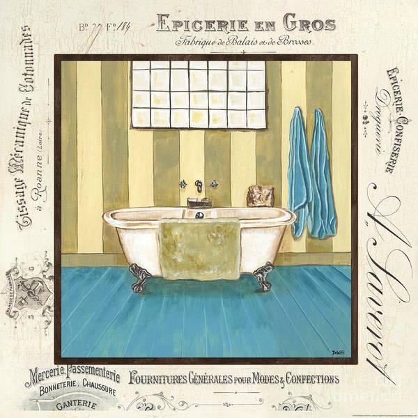 Bath Poster featuring the painting Monique Bath 2 by Debbie DeWitt