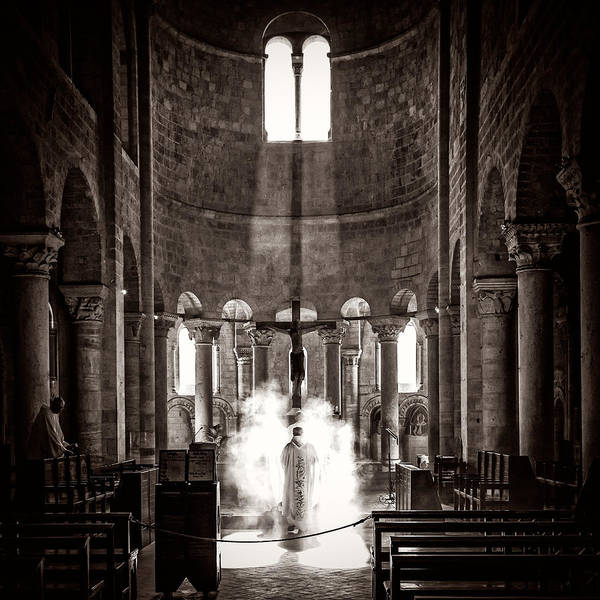 Poster featuring the photograph Morning Mass by Tomas Urban