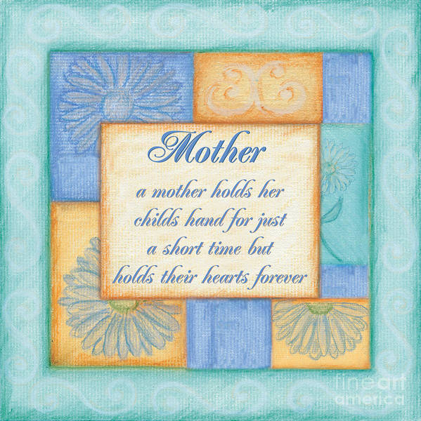 Mother Poster featuring the painting Mother's Day Spa by Debbie DeWitt