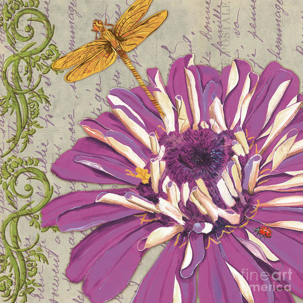 Floral Poster featuring the painting Moulin Floral 2 by Debbie DeWitt