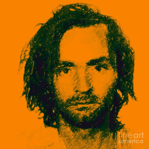 Celebrity Poster featuring the photograph Mugshot Charles Manson P0 by Wingsdomain Art and Photography
