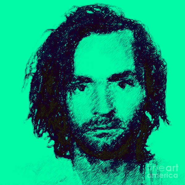 Charles Manson Poster featuring the photograph Mugshot Charles Manson P128 by Wingsdomain Art and Photography