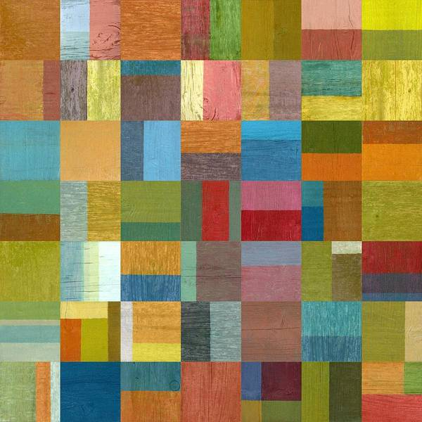 Abstract Poster featuring the digital art Multiple Exposures Ll by Michelle Calkins