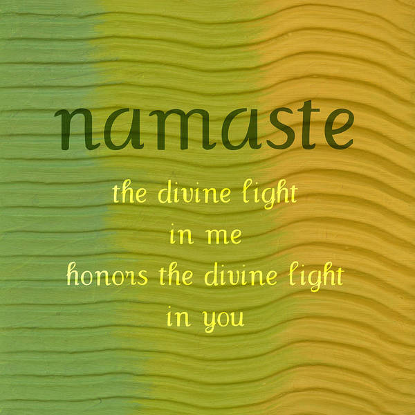 Namaste Poster featuring the painting Namaste by Michelle Calkins