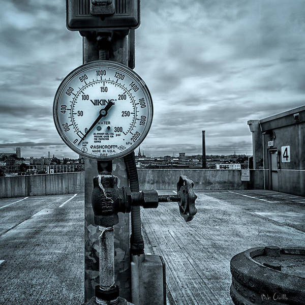 Valve Poster featuring the photograph No Pressure Or The Valve At The Top Of The City by Bob Orsillo