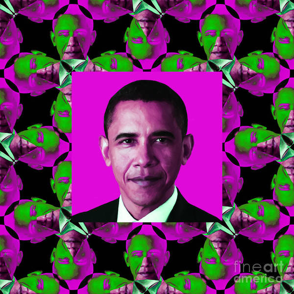 Politic Poster featuring the photograph Obama Abstract Window 20130202m60 by Wingsdomain Art and Photography