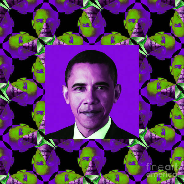 Politic Poster featuring the photograph Obama Abstract Window 20130202m88 by Wingsdomain Art and Photography
