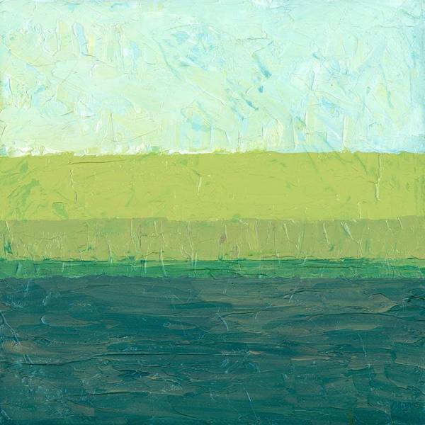 Abstract Poster featuring the painting Ocean Blue And Green by Michelle Calkins