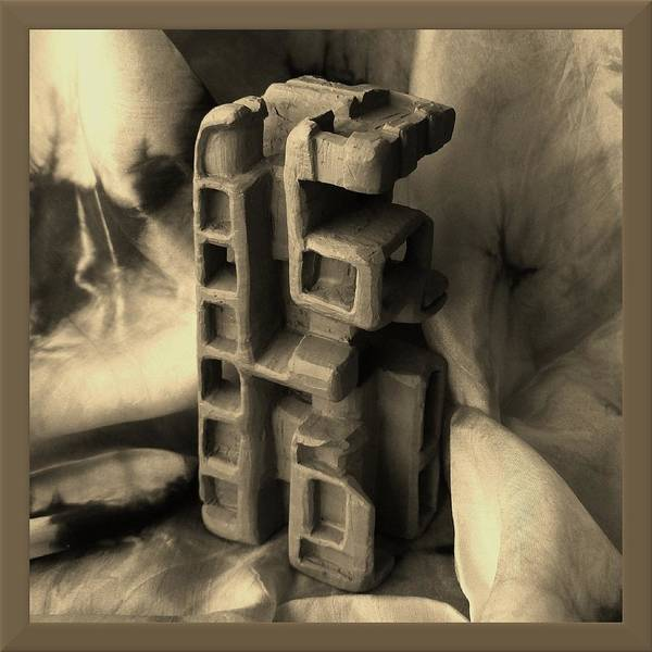 Sculpture Poster featuring the sculpture Old Dwellings by Barbara St Jean