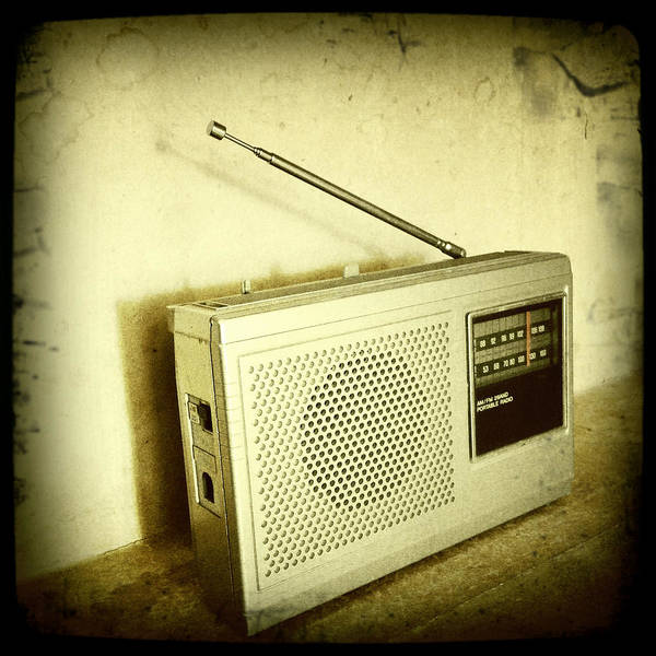 Sepia Poster featuring the photograph Old Radio by Les Cunliffe
