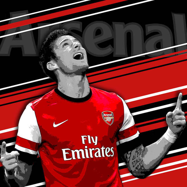 competitive price 5fb95 9f6a4 Olivier Giroud Arsenal Print Poster