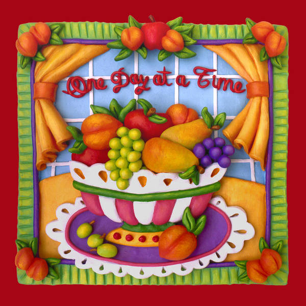 Food Poster featuring the sculpture One Day At A Time by Amy Vangsgard