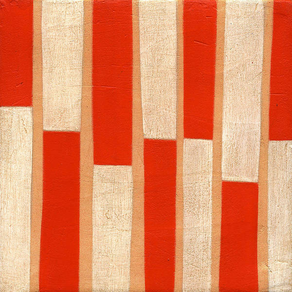 Orange Poster featuring the painting Orange Bars by Laura Nugent