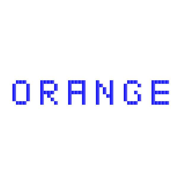 Text Algorithm Digital Rithmart Orange Blue Poster featuring the digital art Orange.1 by Gareth Lewis