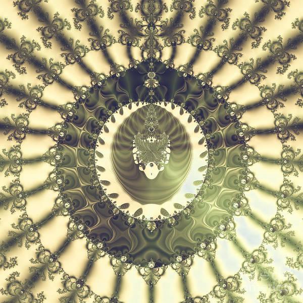 Elegant Poster featuring the digital art Oriental Sun Abstract Art by Design Windmill