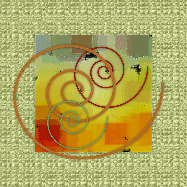 Abstract Poster featuring the digital art Patchwork I by Ben and Raisa Gertsberg