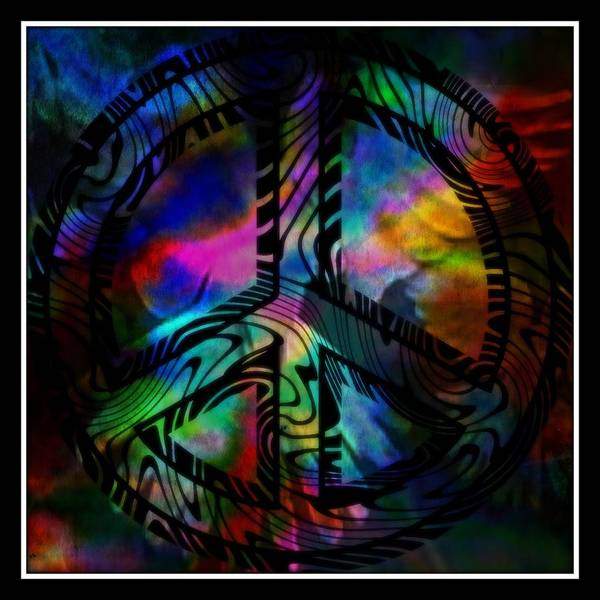 Peace Poster featuring the mixed media Peace Series 1 by Wendie Busig-Kohn