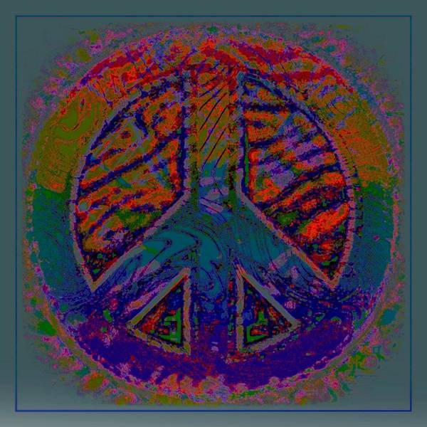 Peace Poster featuring the mixed media Peace Series Vii by Wendie Busig-Kohn