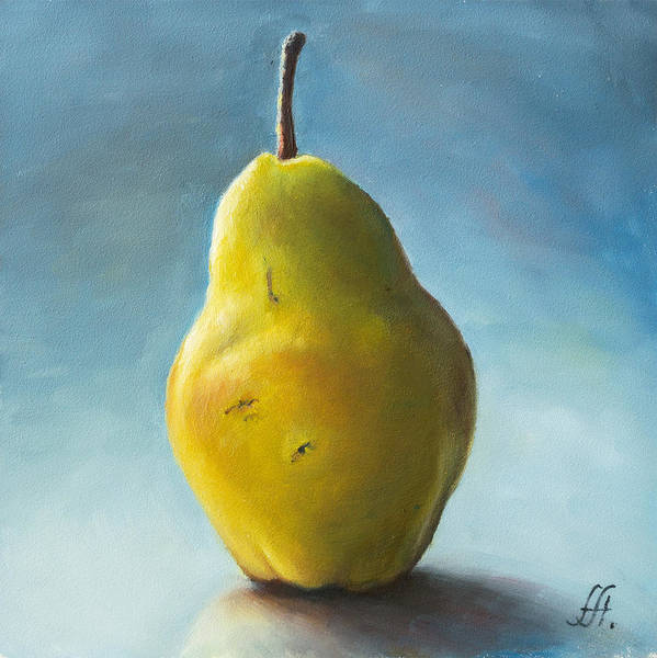 Pear Poster featuring the painting Pear by Anna Abramska