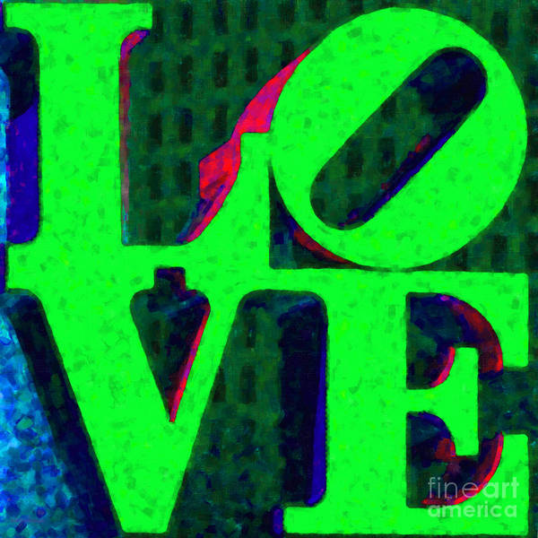 Love Poster featuring the photograph Philadelphia Love - Painterly V3 by Wingsdomain Art and Photography