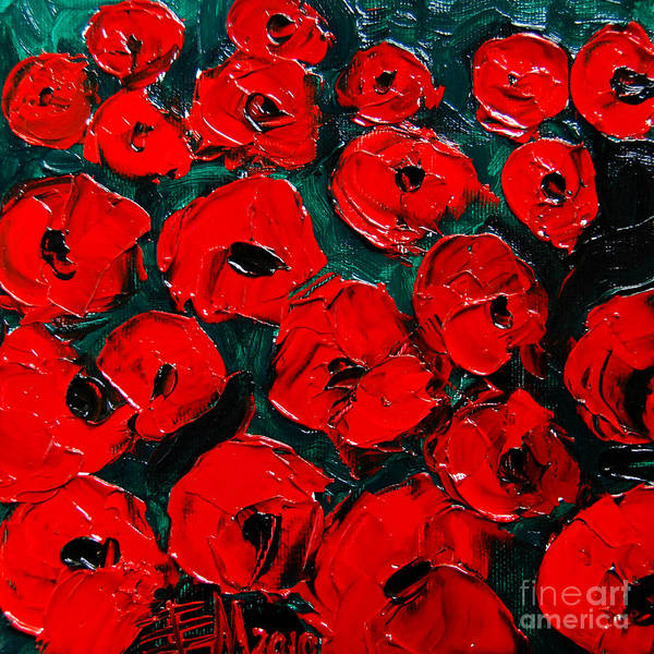 Poppies 3 Poster featuring the painting Poppies 3 by Mona Edulesco