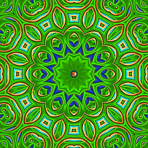 Kaleidoscope Poster featuring the digital art Posh by Wendy J St Christopher