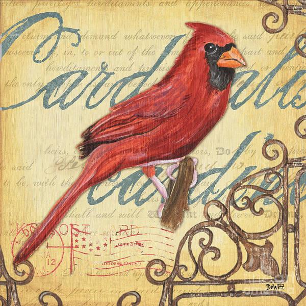Birds Poster featuring the painting Pretty Bird 1 by Debbie DeWitt