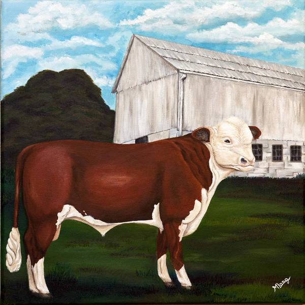 Bull Poster featuring the painting Prize Bull by Michelle Joseph-Long