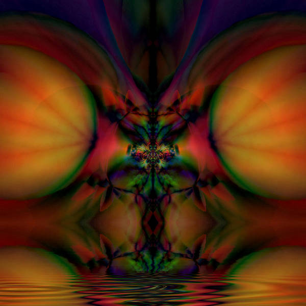 Abstract Poster featuring the digital art Reflections by Bill King