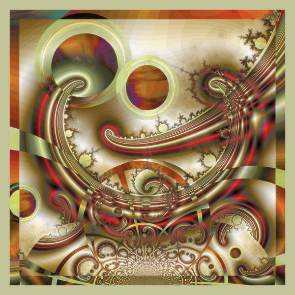 Fractal Poster featuring the digital art Rem Sleep by Wendy J St Christopher