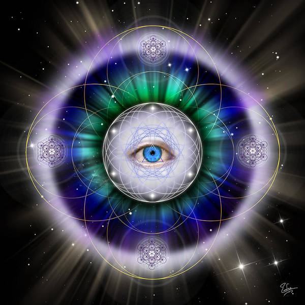 Endre Poster featuring the digital art Sacred Geometry 264 by Endre Balogh