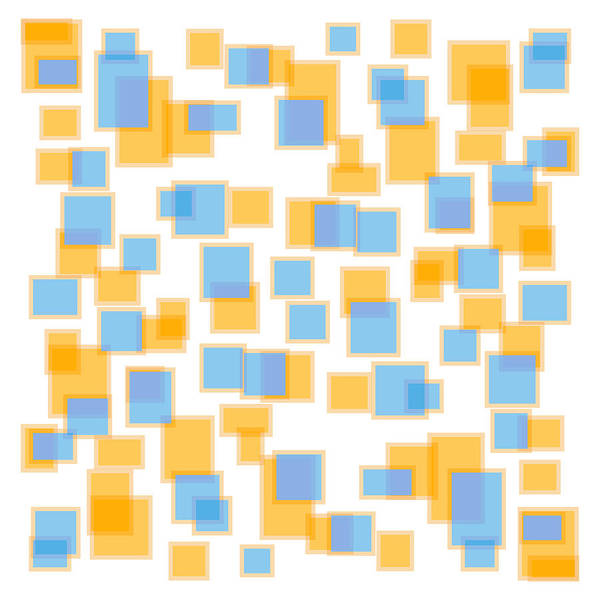 Saffron Yellow And Azure Blue Poster featuring the painting Saffron Yellow And Azure Blue by Frank Tschakert