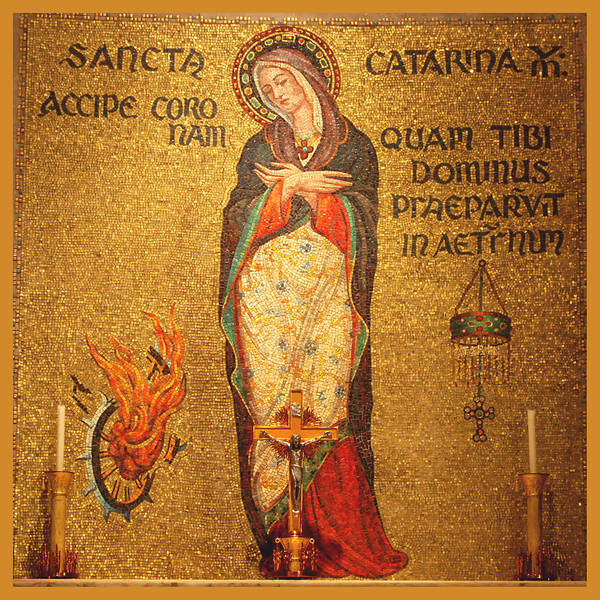 Saint Poster featuring the photograph Saint Catherine Of Alexandria Altar by Philip Ralley