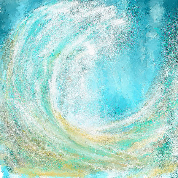 Seascapes Abstract Poster featuring the painting Seascapes Abstract Art - Mesmerized by Lourry Legarde
