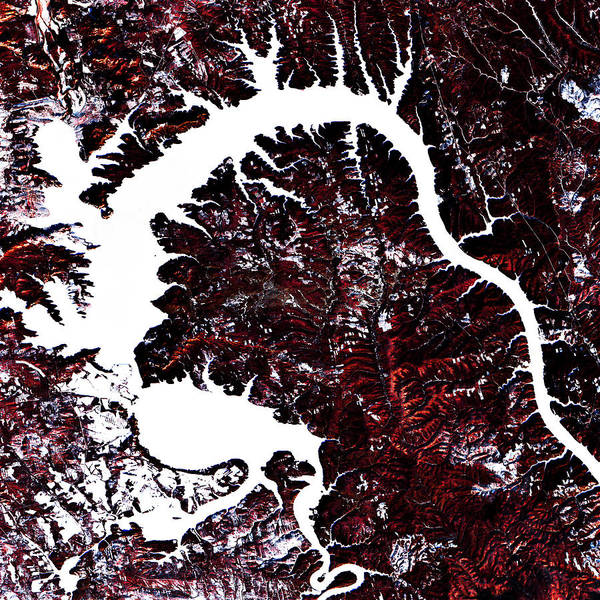 'landscape Poster featuring the digital art Dragon Lake by Earthlandish
