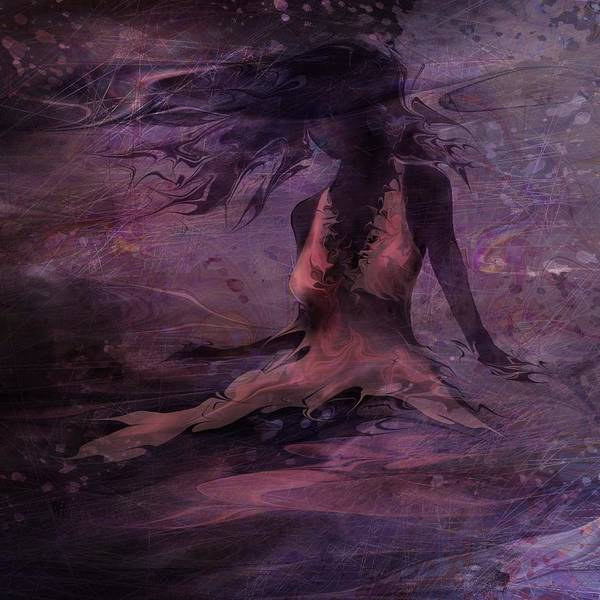 Woman Poster featuring the digital art She Is The Wind by Rachel Christine Nowicki