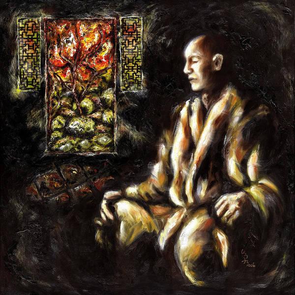 Zen Poster featuring the painting Silence by Hiroko Sakai