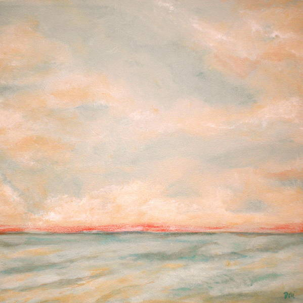 Sky And Sea Poster featuring the painting Sky And Sea by Debi Starr