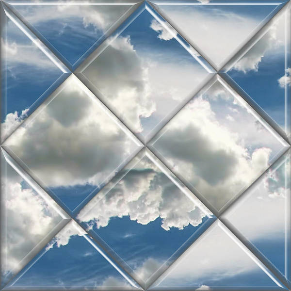 Clouds Poster featuring the digital art Sky Watch by Wendy J St Christopher